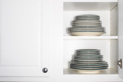 Stacks of Plates Stock Images
