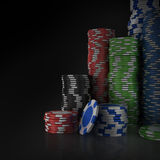 Stacks of poker chips Royalty Free Stock Image