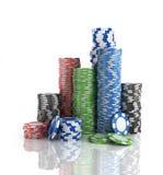 Stacks of poker chips. Royalty Free Stock Image