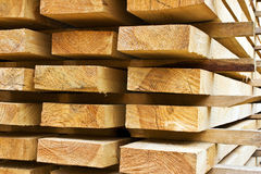 Stacks of prepared lumber Stock Photography