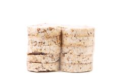 Stacks of puffed rice snack. Royalty Free Stock Photography