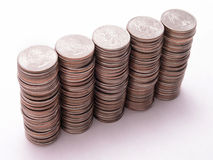 Stacks of Quarters 1 Stock Images