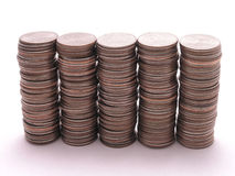 Stacks of Quarters 2 Royalty Free Stock Images