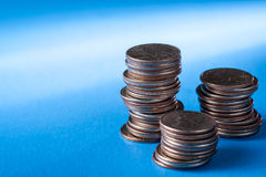 Stacks of quarters Royalty Free Stock Photography
