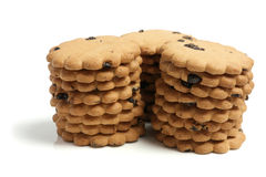 Stacks of Raisin Biscuits Royalty Free Stock Photography