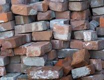 Stacks Of Red Bricks Stock Image