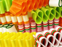 Stacks of Ribbon Candy stock image