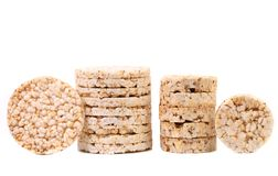 Stacks of rice cakes Stock Photography