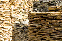 Stacks of Rock Slabs Stock Image