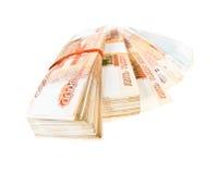Stacks of russian banknotes Stock Photos