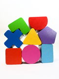 Stacks of Shape Sorter Toy Blocks Royalty Free Stock Photo