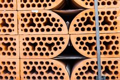 Stacks of silicate bricks Royalty Free Stock Image