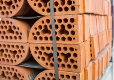 Stacks of silicate bricks Stock Photography