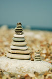 Stacks of stones Stock Images