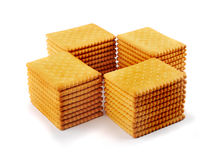 Stacks of tea biscuits, cookies Stock Photography