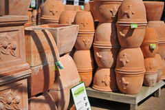 Stacks of Terra Cotta Pots Stock Photo