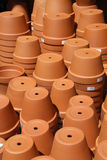Stacks of Terracotta Garden Pots. Stacks of terracota garden pots from a nursery stock images