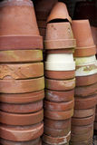 Stacks of TerraCotta Pots Royalty Free Stock Photos