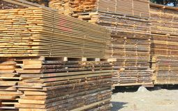 Stacks of timber - close up Royalty Free Stock Photography