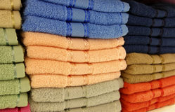 Stacks of towels Stock Images