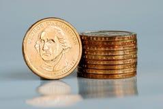 Stacks of United States Dollars. George Washington Stock Photos