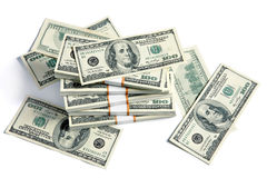 Stacks of US banknotes Royalty Free Stock Photo