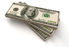 Stacks of 100 US Dollar Royalty Free Stock Images