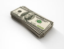 Stacks of 100 US Dollar Stock Photos