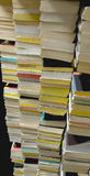 Stacks of Used Paperback Books Royalty Free Stock Photos