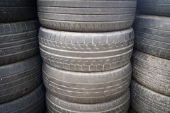 Stacks of Used Vehicle Tires Royalty Free Stock Image