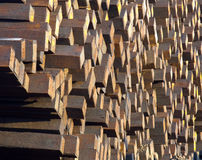 Stacks of used wooden railway sleepers Stock Photography