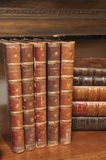 Stacks of various antique books Royalty Free Stock Image