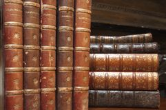 Stacks of various antique books Stock Images