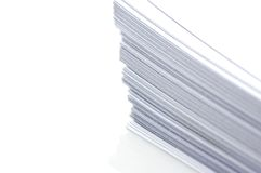 Stacks of White Plain Paper royalty free stock photography