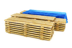 Stacks of wood building lumber Stock Photo