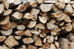 Stacks of wood logs Stock Photos