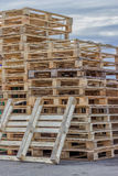 Stacks of Wood Pallet Ready For Reuse 2 Stock Photography