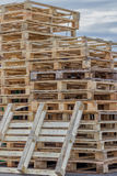 Stacks of Wood Pallet Ready For Reuse 3 Royalty Free Stock Image