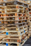 Stacks of  Wood Pallet Ready For Reuse Royalty Free Stock Images
