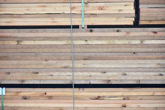 Stacks of Wood. Real Nice thick Wood Lumber Royalty Free Stock Photography