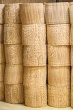 Stacks of wood sticks bundle Stock Photography