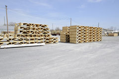 Stacks of wood trestles Stock Photography