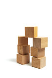 Stacks of Wooden Blocks Royalty Free Stock Images