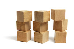 Stacks of Wooden Blocks Stock Photo