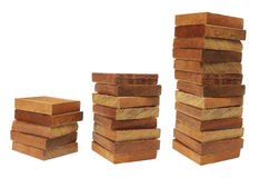 Stacks of Wooden Blocks Stock Photos