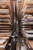 Stacks of wooden boards Stock Image