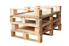 Stacks Of Wooden Pallets Royalty Free Stock Image