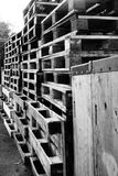 Stacks of Wooden Pallets Royalty Free Stock Photo