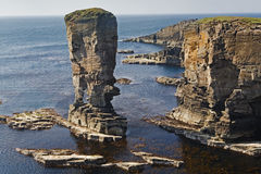 The Stacks of Yesnaby in Orkney, Scotland Royalty Free Stock Photos