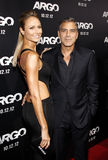 Stacy Keibler and George Clooney Stock Photo